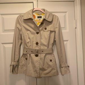 J. Crew Khaki Short Trench Coat